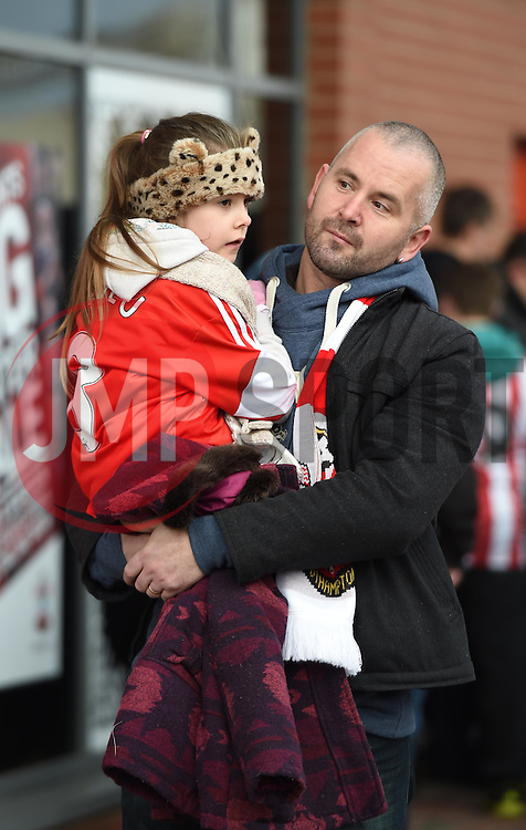 Fans arrive at St Mary's Stadium for FA Cup Third Round clash between Southampton and Ipswich Town - Photo mandatory by-line: Paul Knight/JMP - Mobile: 07966 386802 - 04/01/2015 - SPORT - Football - Southampton - St Mary's Stadium - Southampton v Ipswich Town - FA Cup Third Round
