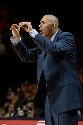 Virginia head coach Dave Leitao instructs his team to talk to each other during the Virginia Tech game.  The Virginia Cavaliers men's basketball team fell to the Virginia Tech Hokies 70-69 in overtime at the John Paul Jones Arena in Charlottesville, VA on January 16, 2008.