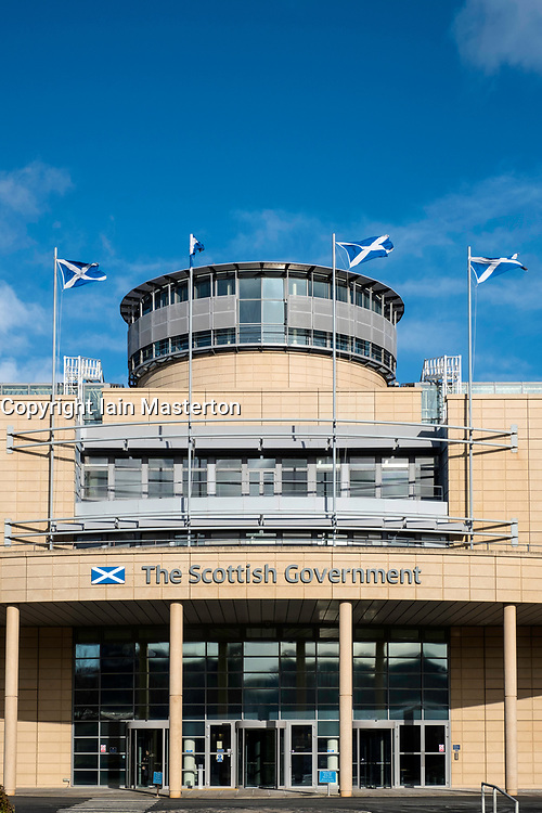 Exterior of Victoria Quay Scottish Government offices in Leith, Scotland, United Kingdom