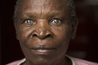 Francine Nyiradende, 76, from the Eastern Province of Rwanda Francine has been a widow for 30 years and has been totally blind for more than three years.Her neighbour is Specise Mukashema, 42.
