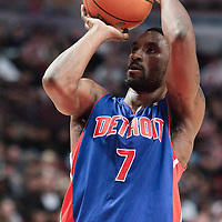 30 October 2010: Detroit Pistons Ben Gordon is seen at the free throw line during the Chicago Bulls 101-91 victory over the Detroit Pistons at the United Center, in Chicago, Illinois, USA.