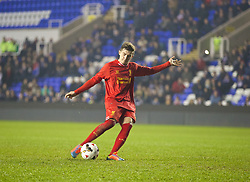 READING, ENGLAND - Wednesday, March 12, 2014: Liverpool's Daniel Trickett-Smith scores the second penalty of the shoot-out against Reading during the FA Youth Cup Quarter-Final match at the Madejski Stadium. (Pic by David Rawcliffe/Propaganda)