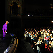Temptations founding member Otis Williams takes a bow after performing at The Music Hall in Portsmouth, NH