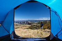 Acampamento no Cânion do Espraiado. Urubici, Santa Catarina, Brasil. / Camping in Espraiado Canyon. Urubici, Santa Catarina, Brazil.
