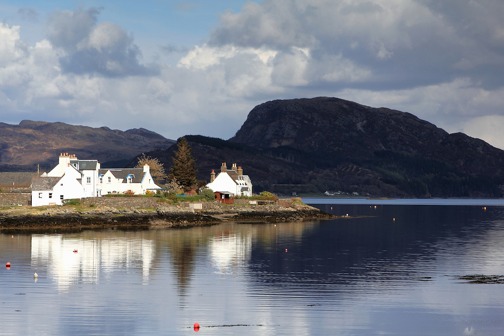Views of the picturesque village of Plockton, in the north-west Highlands of Scotland