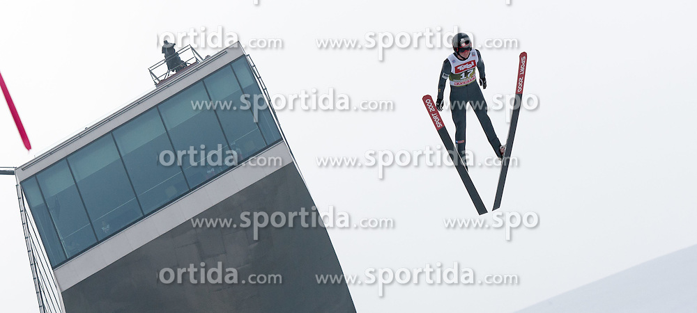 03.01.2015, Bergisel Schanze, Innsbruck, AUT, FIS Ski Sprung Weltcup, 63. Vierschanzentournee, Innsbruck, Training, im Bild Matthew Rowley (CAN) // Matthew Rowley of Canada soars through the air during a training session for the 63rd Four Hills Tournament of FIS Ski Jumping World Cup at the Bergisel Schanze in Innsbruck, Austria on 2015/01/03. EXPA Pictures © 2015, PhotoCredit: EXPA/ Jakob Gruber