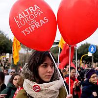 Manifestazione di solidarietà con la Grecia di Alexis Tsipras