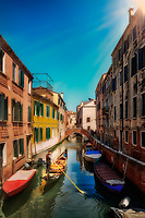 """The Gondoliera illuminated by the afternoon light along Rio De La Toletta Venezia""...<br />