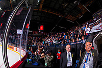 REGINA, SK - MAY 23: Fans applaud the win of the Regina Pats over the Swift Current Broncos at the Brandt Centre on May 23, 2018 in Regina, Canada. (Photo by Marissa Baecker/CHL Images)