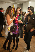 OLIA SARDAROVA; ALINA JAKUBOVA; UMESH PATEL, Pakpoom Silaphan 'Empire State' Opening Reception, Scream. Eastcastle St. London. 21 February 2013