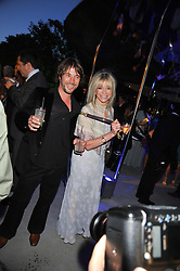 JAY KAY and JO WOOD at the annual Serpentine Gallery Summer Party sponsored by Canvas TV  the new global arts TV network, held at the Serpentine Gallery, Kensington Gardens, London on 9th July 2009.