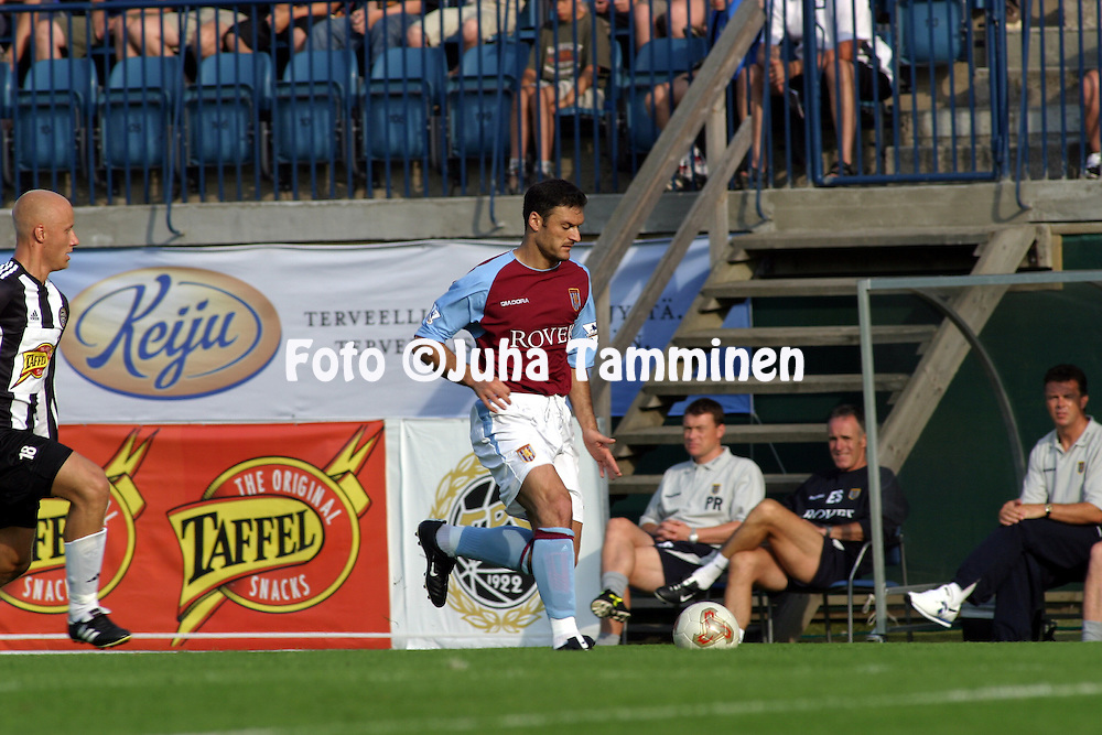 22.07.2003, Veritas Stadium, Turku, Finland..Pre-season friendly match, TPS Turku v Aston Villa.Alpay ...zalan - Aston Villa.©Juha Tamminen