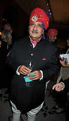 HIS HIGHNESS MAHARAJA GAJ SINGH I I OF MARWAR- JODHPUR at a dinner to celebrate the opening of 'Maharaja - The Spendour of India's Royal Courts' an exhbition at the V&A, London on 6th October 2009.