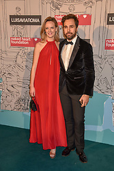 Charlotte Carroll and Diego Bivero-Volpe at the Fabulous Fund Fair in aid of Natalia Vodianova's Naked Heart Foundation in association with Luisaviaroma held at The Round House, Camden, London England. 18 February 2019.
