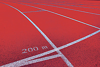 Photo of 200 meter red running tracks