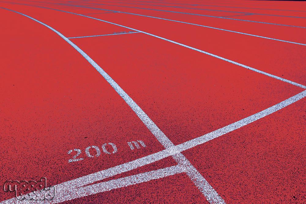 Photo of 200 meter red running tracks