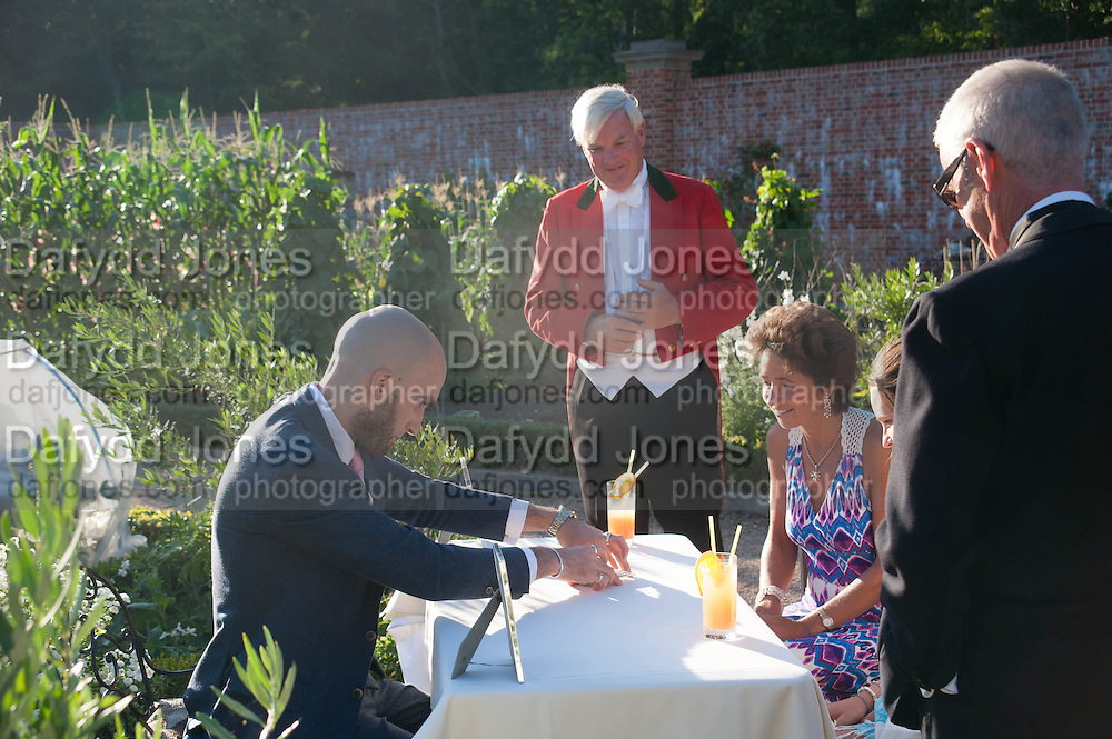 DRUMMOND MONEY-COUTTS; ATTY BEOR-ROBERTS; CECILIA BEOR-ROBERTS Richard Taylor's 69th birthday party.  Whithurst Park. West Sussex.  3 August 2013