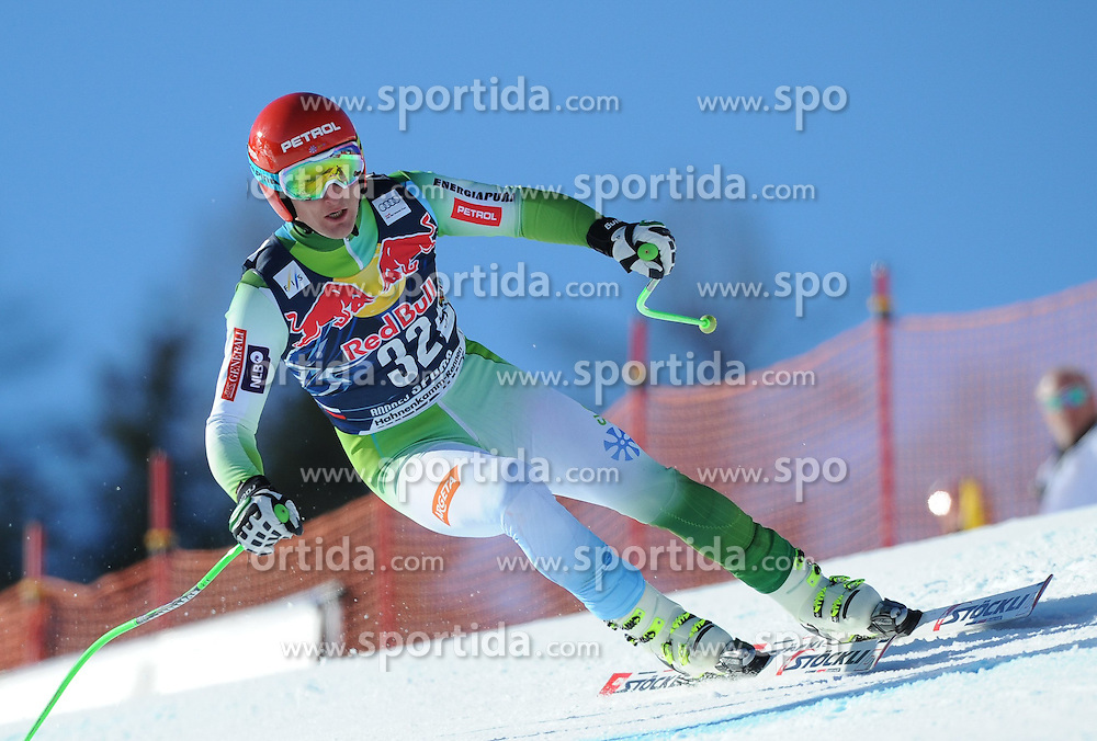21.01.2015, Streif, Kitzbuehel, AUT, FIS Ski Weltcup, Abfahrt, Herren, 2. Training, im Bild Andrej Sporn (SLO) // Andrej Sporn of Slovenia in action during second practice run for the mens Downhill of Kitzbuehel FIS Ski Alpine World Cup at the Streif Course in Kitzbuehel, Austria on 2015/01/21. EXPA Pictures © 2015, PhotoCredit: EXPA/ Erich Spiess