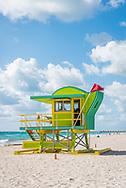 Lifeguard stand on Miami Beach.