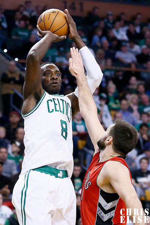 17 November 2012: Boston Celtics power forward Jeff Green (8) takes a jumpshot during the Boston Celtics 107-89 victory over the Toronto Raptors at the TD Garden, Boston, Massachusetts, USA.