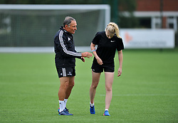 Performance coach Dr Dave Alred with a Bristol Ladies player - Mandatory by-line: Paul Knight/JMP - 29/07/2017 - RUGBY - Bristol Ladies Rugby pre-season training