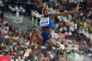 Tori Bowie (USA), Long Jump Women - Final, during the 2019 IAAF World Athletics Championships at Khalifa International Stadium, Doha, Qatar on 6 October 2019.