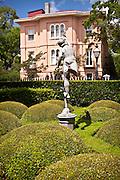 Mercury statue in gardens of Calhoun Mansion museum Charleston, SC