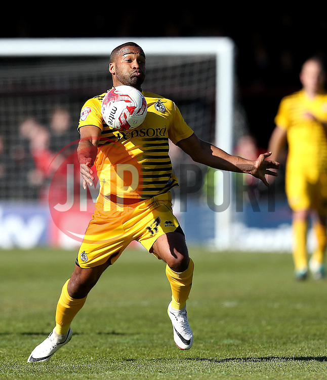 Jermaine Easter of Bristol Rovers controls the ball - Mandatory by-line: Robbie Stephenson/JMP - 30/04/2016 - FOOTBALL - Bootham Crescent - York, England - York City v Bristol Rovers - Sky Bet League Two