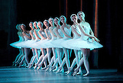 Swan Lake <br /> Bolshoi Ballet <br /> at The Royal Opera House, Covent Garden, London, Great Britain <br /> press photocall / rehearsal <br /> 29th July 2016 <br /> <br /> swans<br /> <br /> <br /> <br /> Photograph by Elliott Franks <br /> Image licensed to Elliott Franks Photography Services