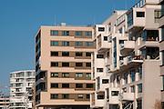 moderne Apartmenthaeuser am Sandtorhafen, Hafen City, Hamburg, Deutschland.|.harbour city, Hamburg, Germany.