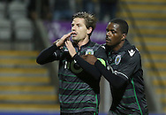 Sporting's player Adrien celebrates after scoring a goal, during the Portuguese First League football match Nacional vs Sporting held at Madeira Stadium, Funchal, Portugal, 13 February, 2016.  LUSA / GREGÓRIO CUNHA
