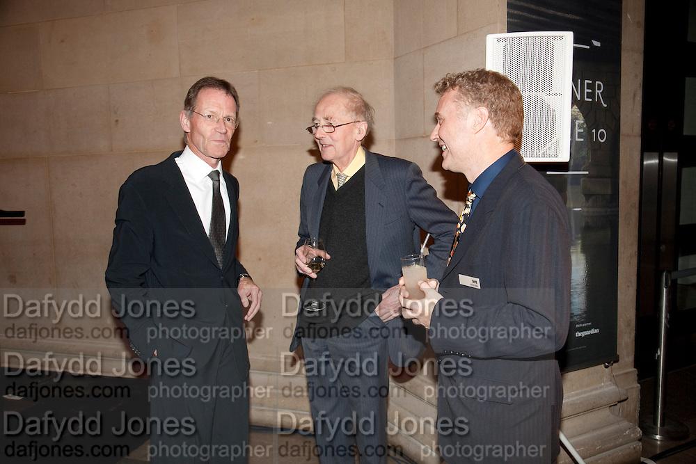 SIR NICHOLAS SEROTA; SIR NICHOLAS GOODISON; ADRIAN GLEW, Archive 40 Reception. 40th Anniversary of the Tate archive. Tate Britain. Millbank. London. 25 October 2010. -DO NOT ARCHIVE-© Copyright Photograph by Dafydd Jones. 248 Clapham Rd. London SW9 0PZ. Tel 0207 820 0771. www.dafjones.com.