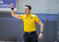 ROTTERDAM  -  Scheidsrechter Marc Becholz  finale NK  zaalhockey Pinoke JA1-Kampong JA1 (5-4).   COPYRIGHT  KOEN SUYK