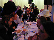 John Dempsey at the head of the table including, Terry Jones, Stella McCartney and Sean Ellis, I.D. magazine dinner for John Dempsey of Mac cosmetics, Fifth floor restaurant, Harvey Nichols. 17 December 2002. © Copyright Photograph by Dafydd Jones 66 Stockwell Park Rd. London SW9 0DA Tel 020 7733 0108 www.dafjones.com