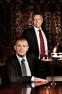 Danish Minsiater of Finance Bjarne Korydon and MP John Dyrby.
