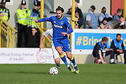 AFC Wimbledon defender George Francomb (7) dribbling and attack the Northampton Town goal during the EFL Sky Bet League 1 match between AFC Wimbledon and Northampton Town at the Cherry Red Records Stadium, Kingston, England on 11 March 2017. Photo by Matthew Redman.