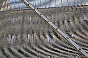 A security fence surrounding one of the wings. HMP Wandsworth, London, United Kingdom