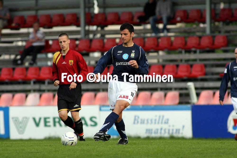 10.06.2007, Tammela, Tampere, Finland..Suomen Cup, 5. kierros / Finnish Cup, 5th round.KOO-VEE - Myllykosken Pallo-47.Hugo Miranda - MyPa.©Juha Tamminen.....ARK:k