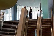 Roma  23 Maggio 2012.La nuova Stazione Tiburtina dell'alta velocità..Polizia Ferroviaria..