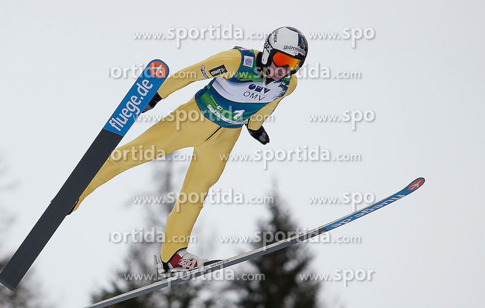 15.01.2012, Kulm, Bad Mitterndorf, AUT, FIS Ski Flug Weltcup, erster Durchgang, im Bild Tomasz Byrt (POL) // Tomasz Byrt from Poland during the first round of FIS Ski Flying World Cup at the 'Kulm', Bad Mitterndorf, Austria on 2012/01/15, EXPA Pictures © 2012, PhotoCredit: EXPA/ Erwin Scheriau