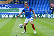 Bryn Morris (17) of Portsmouth during the EFL Sky Bet League 1 Play Off leg 1 of 2 match between Portsmouth and Oxford United at Fratton Park, Portsmouth, England on 3 July 2020.