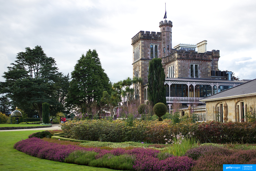 Lanarch Castle on the Otago Peninsular is New Zealand's only Castle. Built 1871 by William Larnach, merchant baron and politician, for his beloved first wife Eliza. 200 workmen spent three years building the Castle shell and master European craftsmen spent a further 12 years embellishing the interior. Larnach spared no expense on his dream home, which features the finest materials from around the world. .The Castle is still privately owned and cared for by the Barker family. This superbly crafted building with magnificent architecture showcases a unique collection of New Zealand antiques, with a tragic and scandalous history, it has spectacular tower views and beautiful gardens. 26th March  2011, Photo Tim Clayton