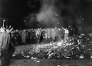 Book burning in the Nazi era. Berlin 1936
