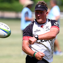 DURBAN, SOUTH AFRICA - JANUARY 19: Andrew du Plessis during the Cell C Sharks training session at Growthpoint Kings Park on January 19, 2018 in Durban, South Africa. (Photo by Steve Haag/Gallo Images)