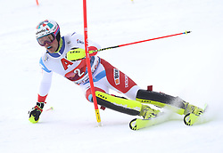26.01.2020, Streif, Kitzbühel, AUT, FIS Weltcup Ski Alpin, Slalom, Herren, 1. Lauf, im Bild Daniel Yule (SUI) // Daniel Yule (SUI) in action during his 1st run in the men's Slalom of FIS Ski Alpine World Cup at the Streif in Kitzbühel, Austria on 2020/01/26. EXPA Pictures © 2020, PhotoCredit: EXPA/ SM<br /> <br /> *****ATTENTION - OUT of GER*****