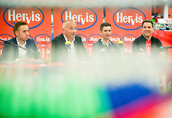 Luka Maselj, Bogdan Fink, Jan Polanc (SLO) of Lampre-Merida Team and Filip Tisma of Sky Team during press conference of cycling race Po Sloveniji - Tour de Slovenie 2015 on June 16, 2015 in Citypark, Ljubljana, Slovenia. Photo by Vid Ponikvar / Sportida
