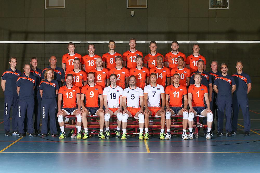 20160516 NED: Selectie Nederlands volleybal team mannen, Arnhem<br />Team Nederland