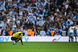 Oxford players looking dejected - Photo mandatory by-line: Jason Brown/JMP -  02/04//2017 - SPORT - Football - London - Wembley Stadium - Coventry City v Oxford United - Checkatrade Trophy Final