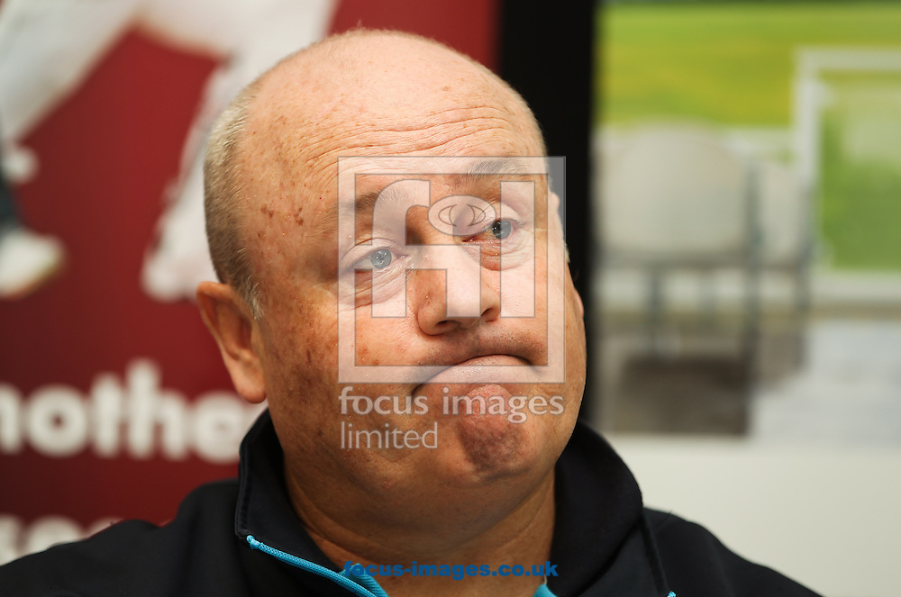 Somerset's director of cricket Dave Nosworthy talks during a press conference held during the Somerset County Cricket Club media day at the County Ground, Taunton, Taunton<br /> Picture by Tom Smith/Focus Images Ltd 07545141164<br /> 31/03/2014