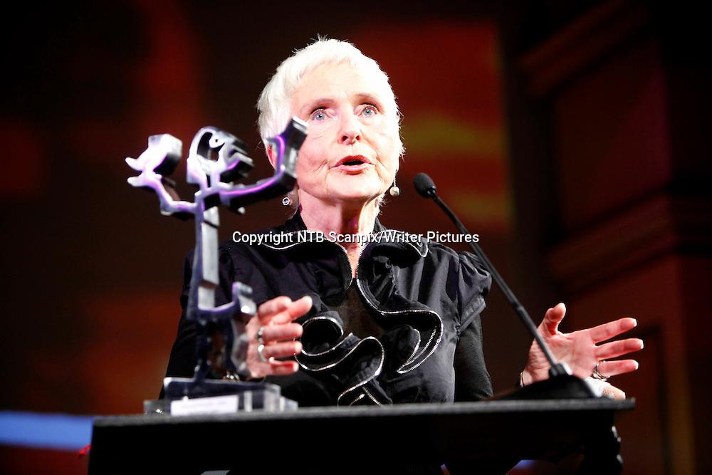Oslo  20101123. Forfatteren Herbj&macr;rg Wassmo (67) ble tildelt Hedersprisen under Brageprisen 2010. <br /> Foto: Aleksander Andersen / Scanpix .<br /> <br /> NTB Scanpix/Writer Pictures<br /> <br /> WORLD RIGHTS, DIRECT SALES ONLY, NO AGENCY